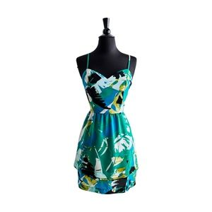 """bebe """"Tropical Paradise"""" Tiered Dress"""